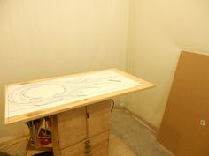 Drawing must now be cut out and then re-traced onto the MDF board for making.