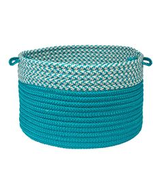 Take a look at this Turquoise Houndstooth Dipped Basket on zulily today!