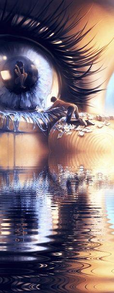 Illusion Kunst, Illusion Art, Beautiful Fantasy Art, Beautiful Gif, Photographie Art Corps, Eyes Artwork, Fantasy Kunst, Wow Art, Dream Art