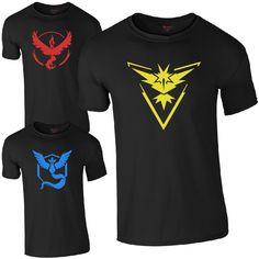 Pokemon Go Team Valor / Mystic / Instinct Fit T-shirts (cod: ev-a) World of Ash    #WorldOfAsh #PokemonGO #Pokemon