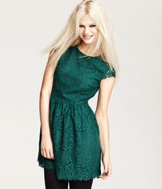 HM: Flared Lace Dress in Dark Green.  One of my top picks so far for a Christmas Dress this season!