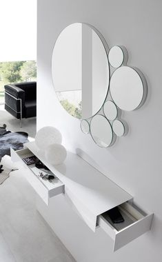 Modern Home Decor Interior Design Decor Interior Design, Interior Decorating, Dressing Table Design, Flur Design, Cool Mirrors, Wall Mirror, Home Decor Furniture, Modern Furniture, Entryway Decor