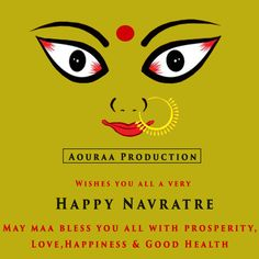 """#AouraaProduction Wish you and your family an exceptionally """"Happy Navratri""""."""
