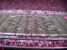 The Ohio State University Marching Band does what is undoubtedly the best halftime performance ever.  It's worth 9 minutes of watching.