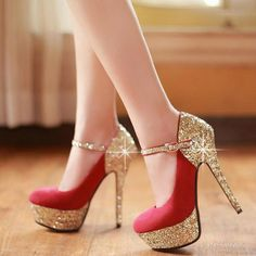 Brilliant Round Closed Toe Platform Flattery Red Stilettos High Heels Suede Mary Jane Pumps I love these shoes! Pretty Shoes, Beautiful Shoes, Cute Shoes, Me Too Shoes, Gorgeous Heels, Fancy Shoes, Formal Shoes, Beautiful Bride, Red High Heels