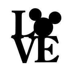 Love Mickey - Vinyl Decal Sticker