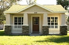 Beautiful Small Cottage House Exterior Ideas - Page 62 of 65 Small Cottage House Plans, Small Cottage Homes, Backyard Cottage, Southern House Plans, Small Cottages, Cottage Plan, Southern Living, Craftsman Cottage, Small Homes
