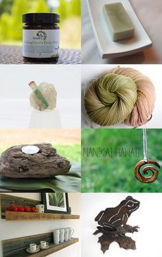 Our Green Tea and French Clay Soap was featured in this gorgeous Etsy Treasury! -Pinned with TreasuryPin.com