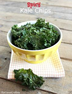 Spicy Kale Chips Recipe