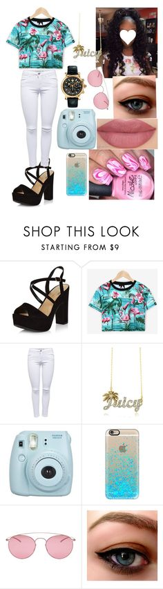 """Untitled #97"" by jewelz0383 ❤ liked on Polyvore featuring New Look, Juicy Couture, Fujifilm, Casetify, Maison Margiela and Versace"