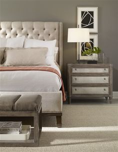 I want this bed!!  Vanguard Furniture - Our Products - W521K-HF Cleo King Bed