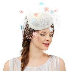 Debenhams £45 From Floozie by Frost French, this elegant head piece is ideal for special occasions. It is completed with a sophisticated veil attached with flowers in feminine pastel colours.