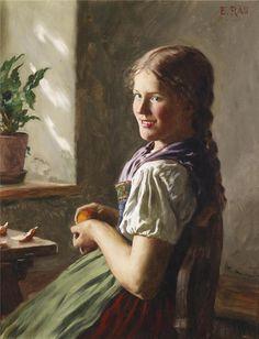 Немецкий художник Emil Rau (1858-1937)