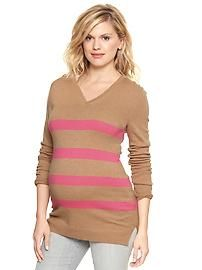 Eversoft striped V-neck sweater