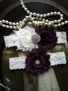 SALEWedding Garter  Plum  Purple  Garters Toss by thehoneybeeshop, $19.99...anything from this shop...just have to buy it closer to the wedding to be sure of size