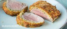 Varkenshaas uit de Airfryer            Hoofdgerecht  15 min + 14 min  2 personen  * Mals stukje vlees met een krokante korst van kruiden en kaas uit de Airfryer     Ingrediënten 1 stuk varkenshaas a 3