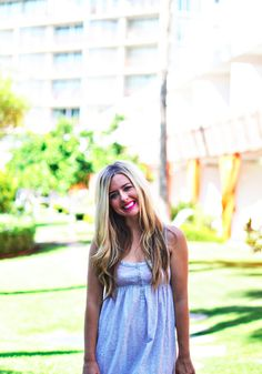A simple sundress is the perfect beach style. Breezy and flirty! Beach Blonde, First Time, Simple