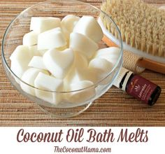Coconut Oil Bath Melts -  Coconut + Shea + essential oil