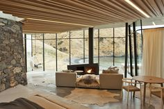 Stay at a Stone-and-Glass Retreat in a Remote New Zealand Bay - Dwell