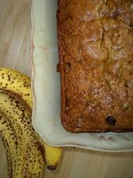 No-Egg Banana Bread Recipe- I just made this bread and it was super duper easy! I have nothing against eggs but I don't have any. What I had was over ripe bananas and a night shift tomorrow, so time is of the essence. I used whole wheat flour and substituted walnuts instead of chocolate chips. A healthier banana nut bread! I can't wait to have breakfast tomorrow:)