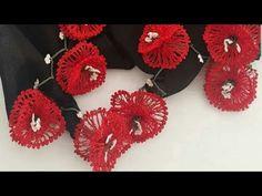 Poppy Crochet Lace Making Flower Embroidery Designs, Crochet Flower Patterns, Crochet Flowers, Hand Embroidery, Poppy Crochet, Crochet Lace, Diy Earrings Studs, Crochet Earrings, Small Wedding Bouquets
