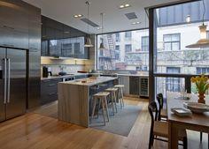 Design Hub - блог о дизайне интерьера, красивых домах, архитектуре, городской среде: Таунхаус в Бруклине