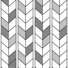 bialo-czarna-tapeta-wzor-jodelkowy-designerski-kontur-obrys-styl-boho-sklep-dekoori-pl