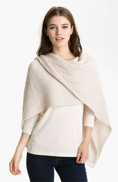 Nordstrom Collection Ribbed Cashmere Wrap available at #Nordstrom