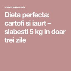 Dieta perfecta: cartofi si iaurt – slabesti 5 kg in doar trei zile Fitness, Excercise, Health Fitness, Rogue Fitness