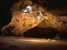 Cave with a heart shaped opening in Aruba