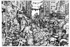 """Street Code"" Awesome Jack Kirby pencils"