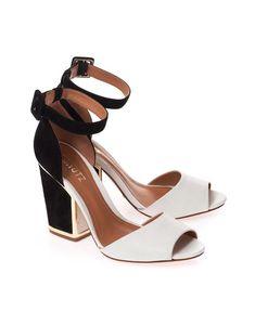 Schutz black/white heels