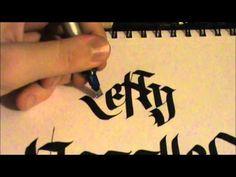 Calligraphy - Left-handers - YouTube