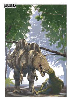 Acrocanthosaurus dinner by Kronosaurus82