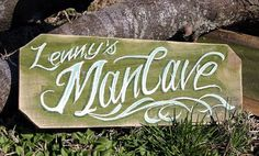 Rustic Custom Name Man Cave Hand Painted Sign by crowlanedesigns, $40.00
