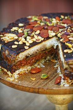 Gâteau d'aubergines libanais - végétalien