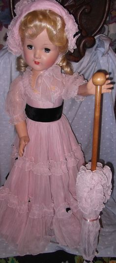 "Effanbee Factory 27"" Southern Belle  Composition Doll, All Original"