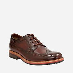 Melshire Wing Cognac Leather - Mens Shoes with Ortholite Technology - Clarks® Shoes