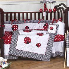 ladybug red, black, white