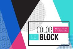 COLOR BLOCK Backgrounds by Anugraha Design on @creativemarket