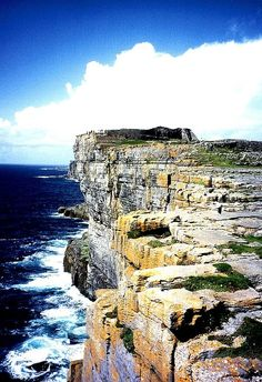 Visiting the Aran Islands.  I enjoyed these cliffs more than the cliffs of Moher.