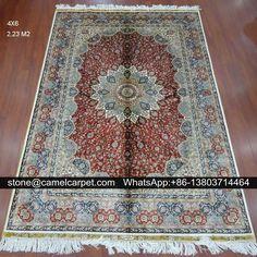 silk carpet,4x6ft,handmade