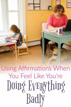 When you're a mom it can feel like you're failing at everything.  I've recently discovered using affirmations when I feel like I'm doing everything badly. // Creating My Happiness