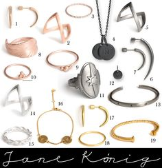off Jane Kønig Diamond Rings, Diamond Jewelry, Fashion Outfits, Womens Fashion, Jewerly, Jewelry Accessories, Girly, Style Inspiration, My Style