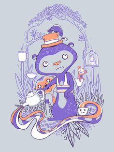 Tea Monkey Tea Party by Tasha Chapman #ElementEdenArtSearch