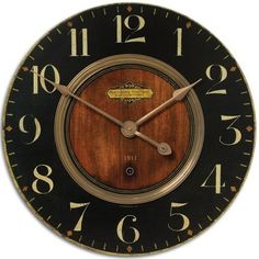 Alexandre Martinot Clock With Brass Ring TI-6026. If this is 32-36 inches it is perfect!!!