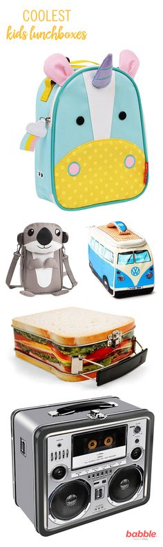 Lunch is the best part of the school day, so why not let your little one bring their lunch to school in style? From Star Wars's BB-8 to a fun monster, these cool lunch boxes have options for every kid, big or small.