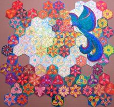"""Puzzle """"O Vôo do Beija-Flor"""" - Posição possível do beija-flor sobre as floresIII - Por Antônia Sobral"""
