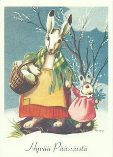 Projek Satu Dunia (One World Project)™: Martta Wendelin Easter Art, Easter Bunny, Vintage Cards, Vintage Postcards, What Is Cute, Spring Images, Easter Wishes, Easter Parade, Bunny Art