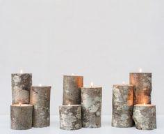 10 idées cadeaux de Noël fait main chez Dawanda. Bougeoirs en bois : Très chic, ces jolis bougeoirs en bois sont le cadeau parfait pour les amoureux de la nature et des balades en forêts !